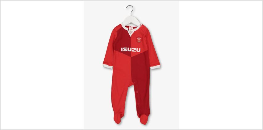 Wales Rugby Red Sleepsuit from Argos
