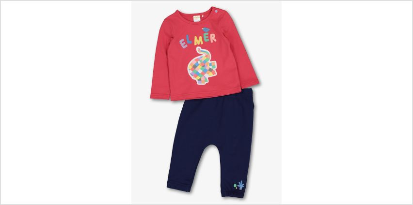 Elmer Red Top & Joggers Set from Argos