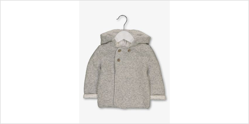 Grey Hooded Knitted Cardigan from Argos