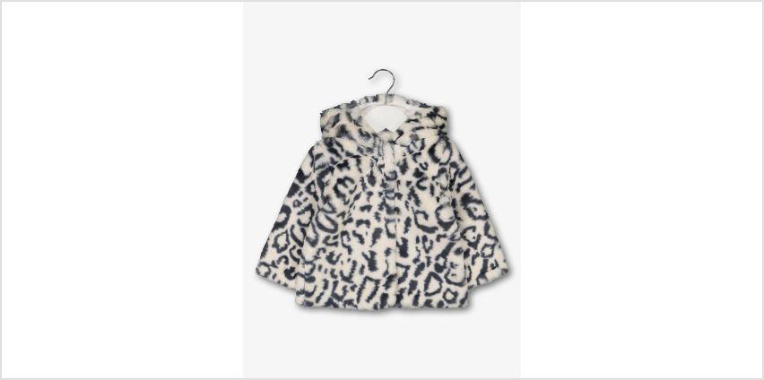 Monochrome Leopard Faux Fur Jacket from Argos