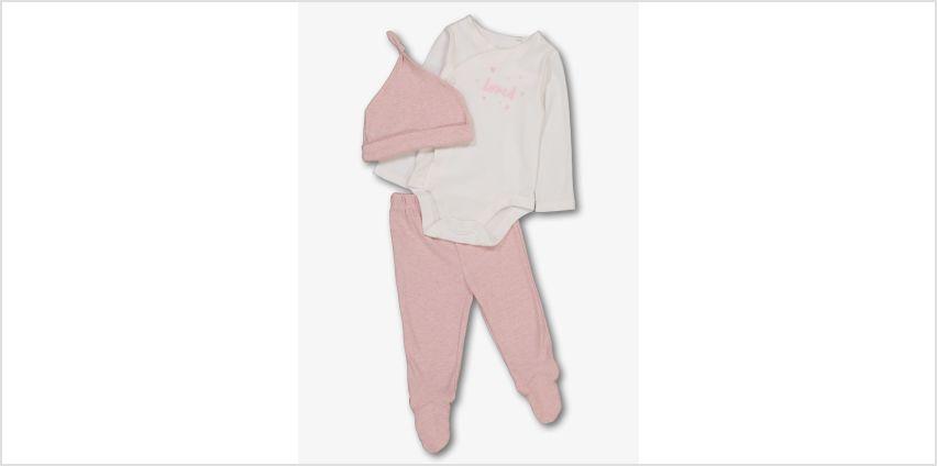 Pink & White 3 Piece Starter Set from Argos