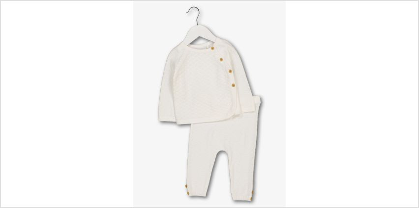 Cream Knitted Jogger 2 Piece Set from Argos