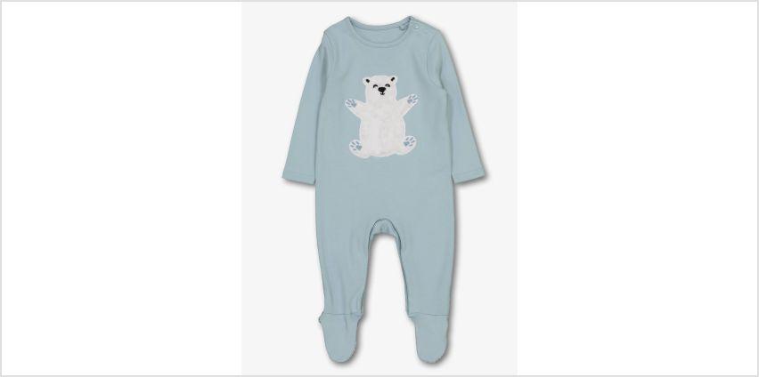 Christmas Family Polar Bear Blue Sleepsuit from Argos