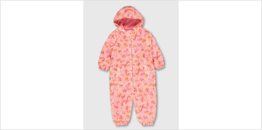 Butterfly Print Lightweight Puddlesuit from Argos