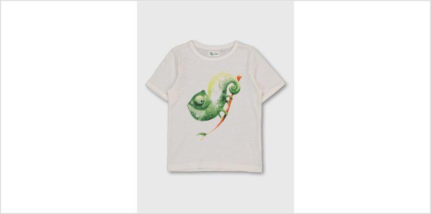 White Chameleon Graphic T-Shirt from Argos