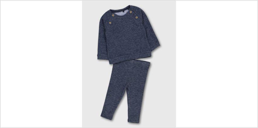 Navy Marl Soft Knit Top & Leggings from Argos