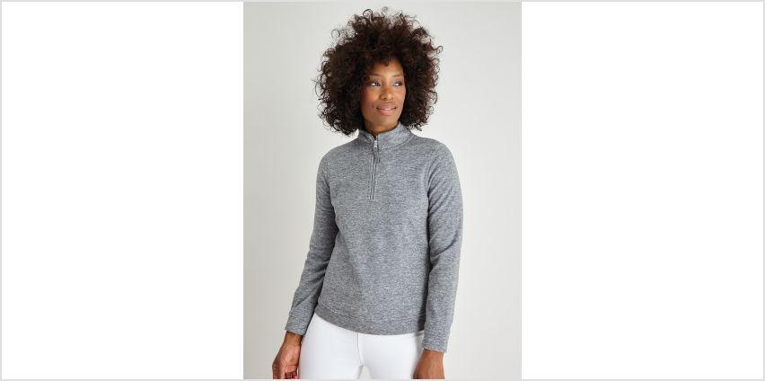 Grey Marl Half-Zip Fleece from Argos