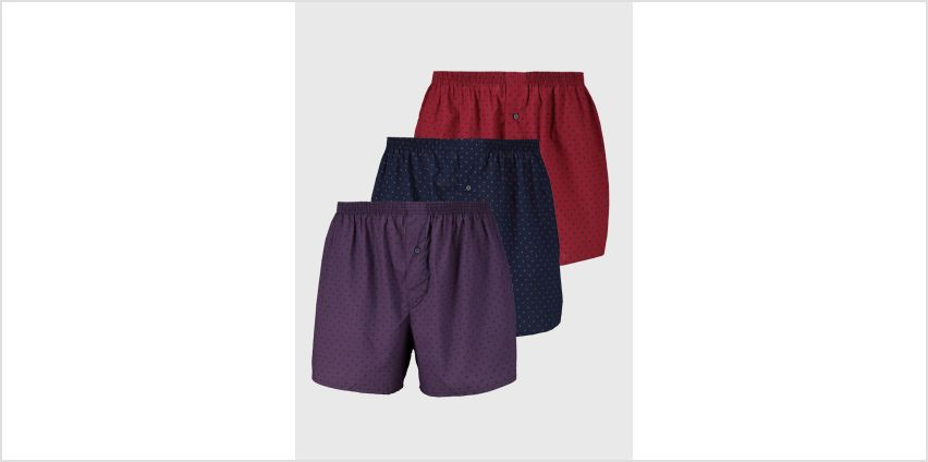 Spotted Woven Boxers 3 Pack from Argos