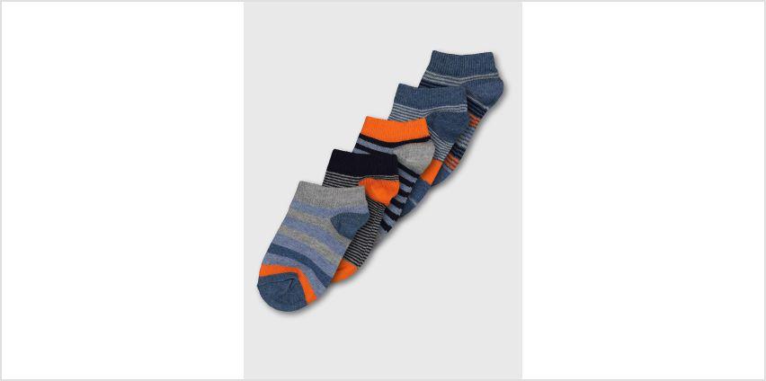 Stripe Trainer Sock 5 Pack from Argos