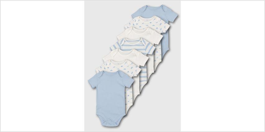 Blue Short Sleeve Bodysuit 7 Pack from Argos