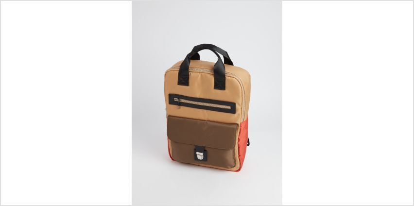 Colour Block Handheld Backpack - One Size from Argos