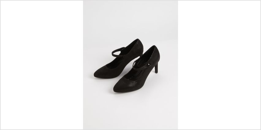 Sole Comfort Black Shimmer Mary Jane Court Shoes from Argos