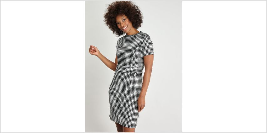 Dogtooth Print Shift Dress from Argos