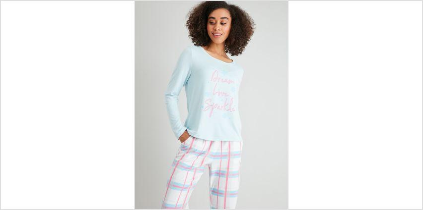 Blue & Check Pyjamas from Argos