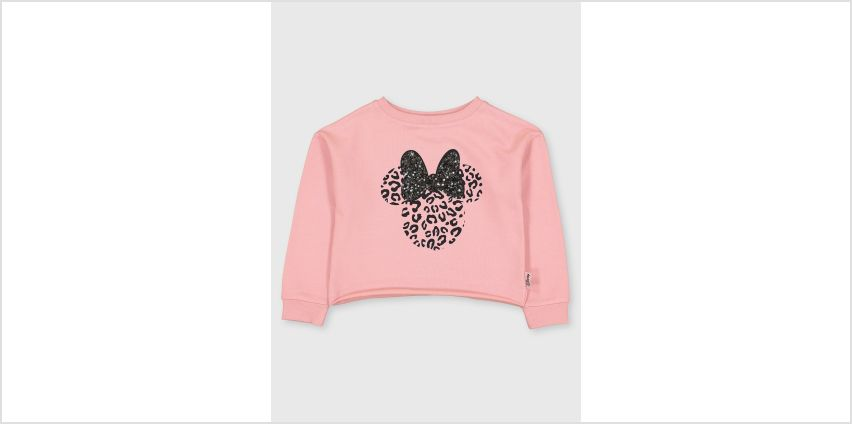 Disney Minnie Mouse Pink Sequin Sweatshirt from Argos