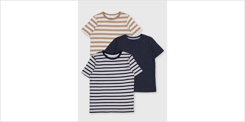 Stripe T-Shirt 3 Pack from Argos
