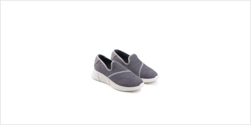 HUSH PUPPIES Grey Makenna Slip On Shoes from Argos