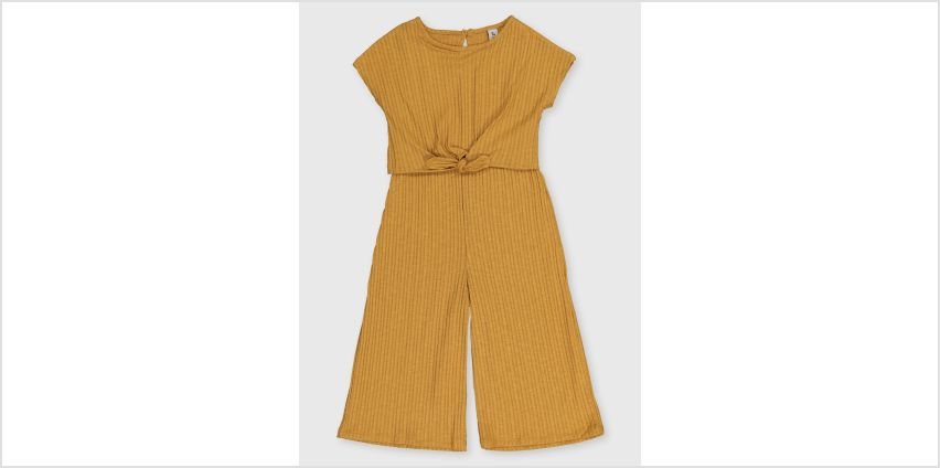 Mustard Ribbed Jersey Jumpsuit from Argos