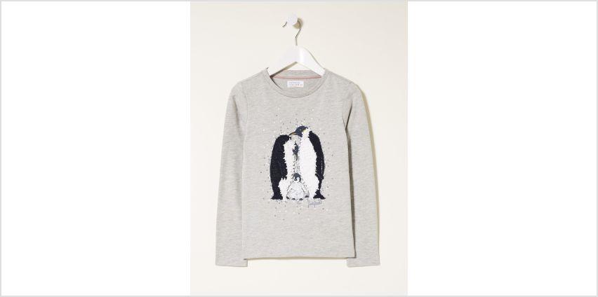 FATFACE Grey 3D Penguin Graphic T-Shirt from Argos