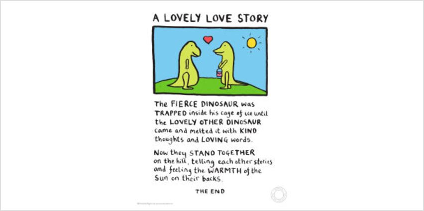 Edward Monkton A Lovely Love Story Limited Edition Fine Art Print from I Want One Of Those