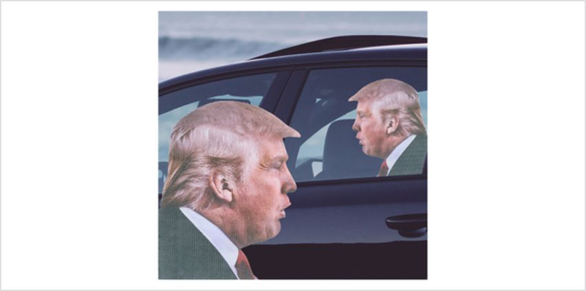 Ride With Car Stickers - Trump from I Want One Of Those