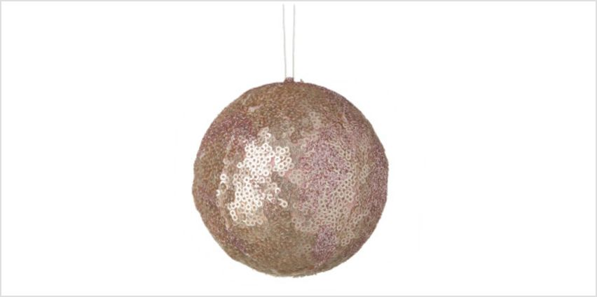 Parlane Sequin Hanging Decoration (10 x 10cm) - Pink Bauble from I Want One Of Those