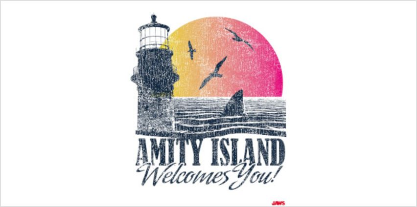 Jaws Amity Welcomes You Limited Edition Art Print from I Want One Of Those