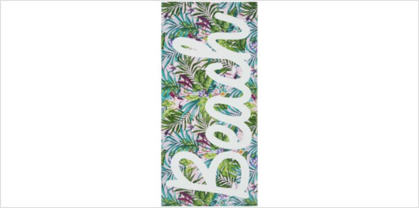 Catherine Lansfield Tropical Beach Towel - Multi from I Want One Of Those