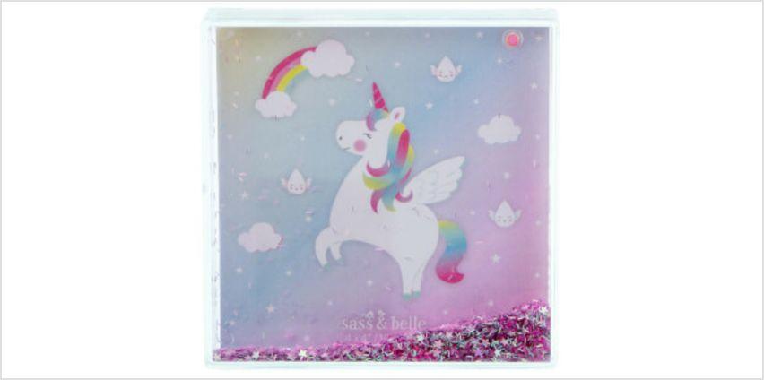 Sass & Belle Rainbow Unicorn Glitter Photo Frame from I Want One Of Those
