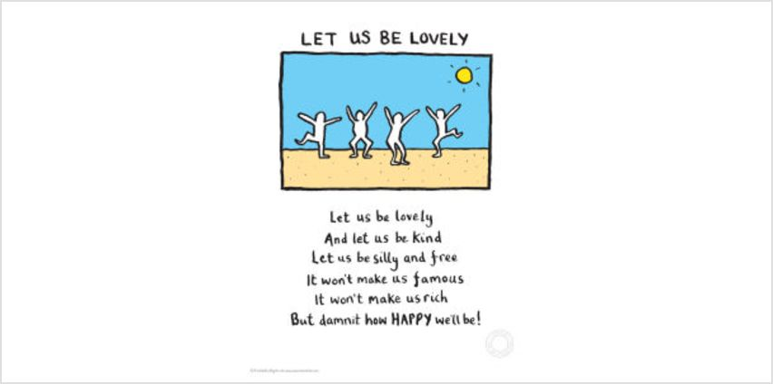 Edward Monkton Let Us Be Lovely Limited Edition Fine Art Print from I Want One Of Those