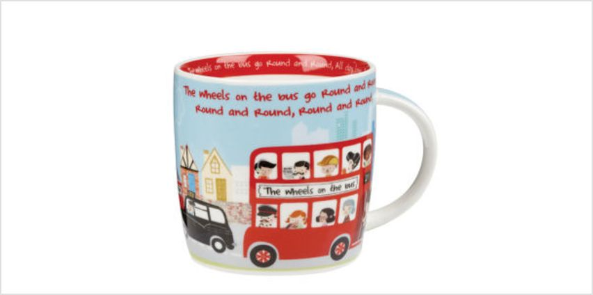 Little Rhymes Wheels on the Bus Mug in Gift Box from I Want One Of Those