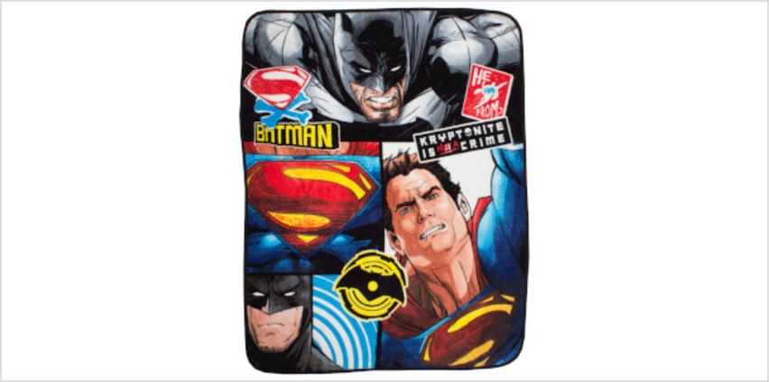 Batman v Superman Clash Coral Fleece Blanket - 120 x 150cm from I Want One Of Those