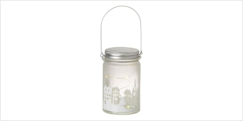 Parlane Winter LED Glass Jar - White (14cm) from I Want One Of Those
