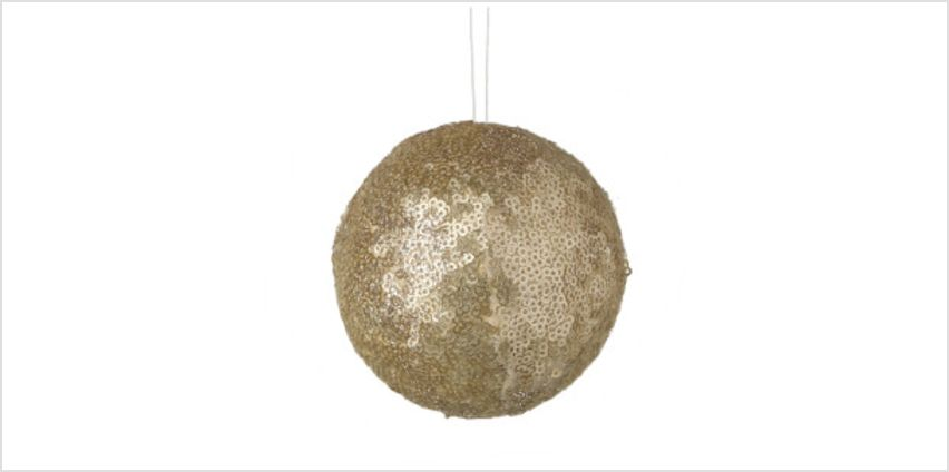 Parlane Sequin Hanging Decoration (10 x 10cm) - Gold Bauble from I Want One Of Those