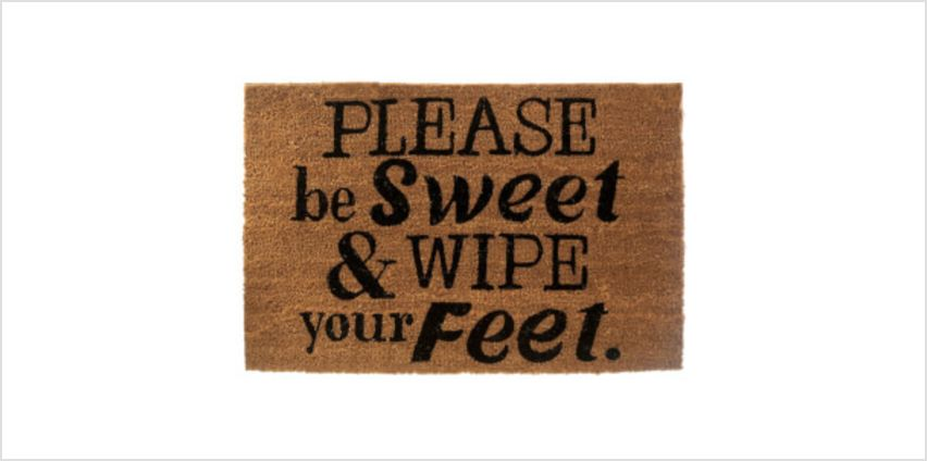 Premier Housewares Please Be Sweet Doormat from I Want One Of Those