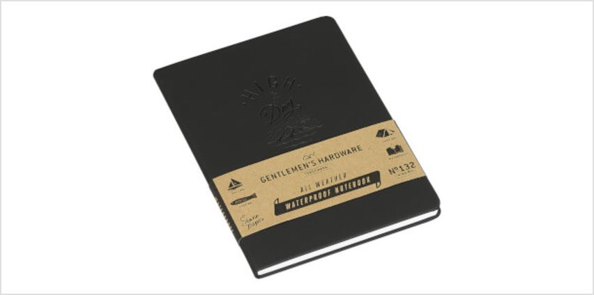 Gentlemen's Hardware Waterproof Notebook - Black from I Want One Of Those