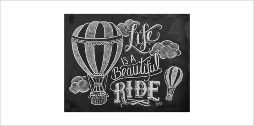 Lily & Val Life Is A Beautiful Ride Art Print from I Want One Of Those