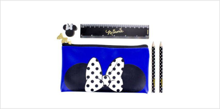 Disney Minnie Mouse Pencil Case with Stationery Set from I Want One Of Those