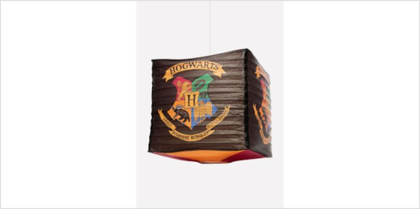 Harry Potter Hogwarts Cube Paper Light Shade from I Want One Of Those