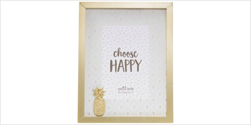 Sass & Belle Touch of Gold Pineapple Photo Frame from I Want One Of Those