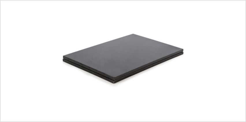 Natural Life NLGR003 Set of 2 Rectangular Placemats - Black from I Want One Of Those