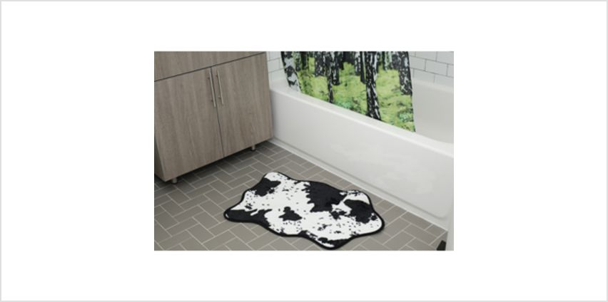 Cowhide Bath Rug - Black/White from I Want One Of Those
