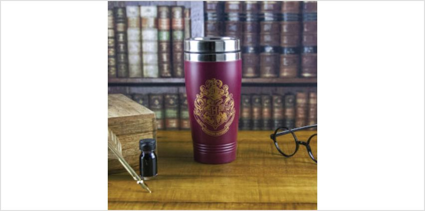 Harry Potter Hogwarts Travel Mug - Burgundy from I Want One Of Those