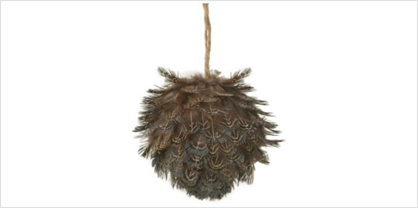 Parlane Feather Hanging Decoration (10 x 10cm) - Brown from I Want One Of Those