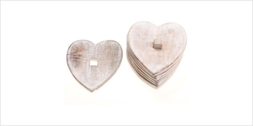 Sass & Belle Wooden Heart Coasters from I Want One Of Those