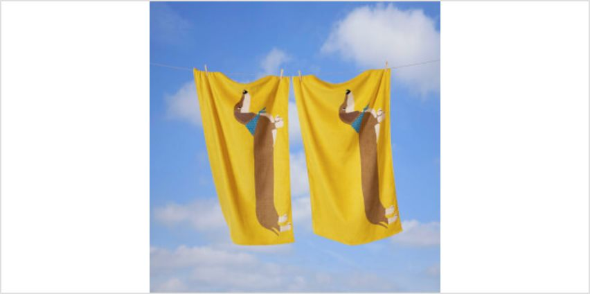 Rapport Long Sausage Dog Towel - Ochre from I Want One Of Those