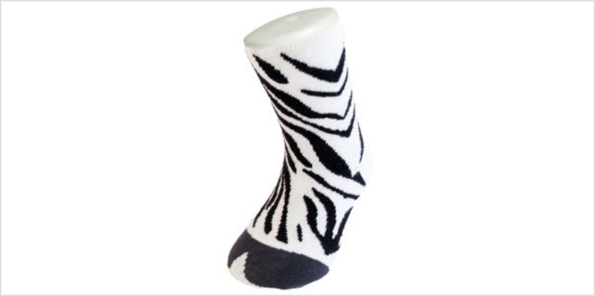 Silly Socks Kids' Zebra - UK Size 1-4 from I Want One Of Those