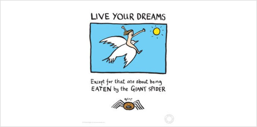Edward Monkton Fine Art Print - Live Your Dreams from I Want One Of Those