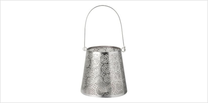 Parlane Alma Metal Lantern - Silver (14 x 14cm) from I Want One Of Those