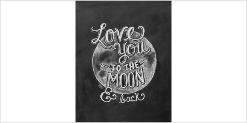 Lily & Val Love You To The Moon Art Print from I Want One Of Those